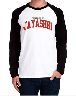 Property Of Jayashri Long-sleeve Raglan T-Shirt