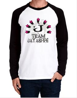 Team Jayashri - Initial Long-sleeve Raglan T-Shirt