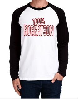 100% Robertson Long-sleeve Raglan T-Shirt