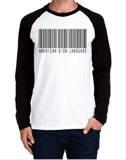 American Sign Language Barcode Long-sleeve Raglan T-Shirt