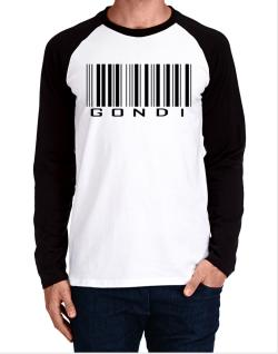 Gondi Barcode Long-sleeve Raglan T-Shirt