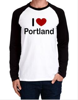 I Love Portland Long-sleeve Raglan T-Shirt