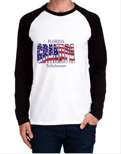 Grandpa Tallahassee - Us Flag Long-sleeve Raglan T-Shirt