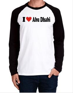 I Love Abu Dhabi Long-sleeve Raglan T-Shirt