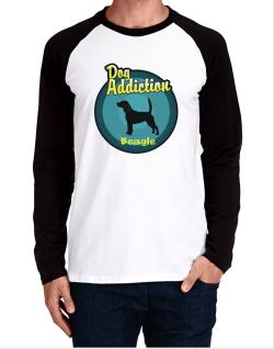 Dog Addiction : Beagle Long-sleeve Raglan T-Shirt
