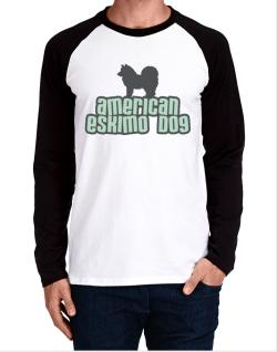 Breed Color American Eskimo Dog Long-sleeve Raglan T-Shirt