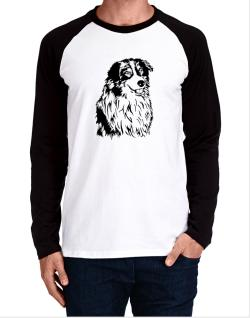 Australian Shepherd Face Special Graphic Long-sleeve Raglan T-Shirt