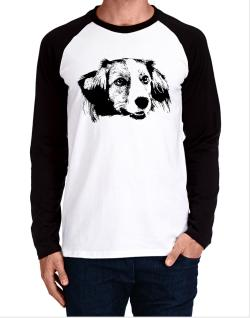 """ Kooikerhondje FACE SPECIAL GRAPHIC "" Long-sleeve Raglan T-Shirt"