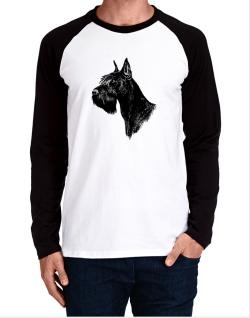 """ Schnauzer FACE SPECIAL GRAPHIC "" Long-sleeve Raglan T-Shirt"