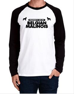 Property Of My Belgian Malinois Long-sleeve Raglan T-Shirt