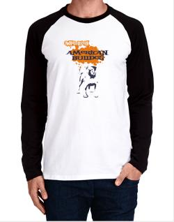 Owned By An American Bulldog Long-sleeve Raglan T-Shirt