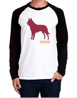 Belgian Malinois Stencil / Chees Long-sleeve Raglan T-Shirt