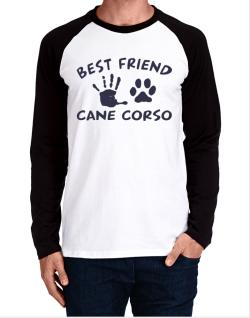 My Best Friend Is My Cane Corso Long-sleeve Raglan T-Shirt