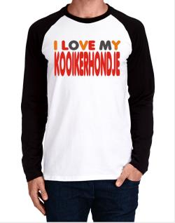 I Love My Kooikerhondje Long-sleeve Raglan T-Shirt