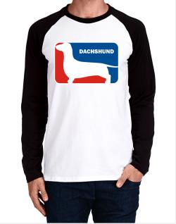 Dachshund Sports Logo Long-sleeve Raglan T-Shirt