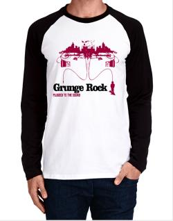 """  Grunge Rock plugged into the sound "" Long-sleeve Raglan T-Shirt"