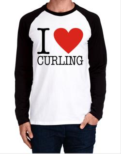 I Love Curling Classic Long-sleeve Raglan T-Shirt