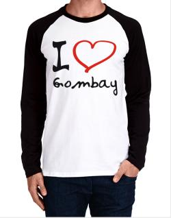 I Love Gombay Long-sleeve Raglan T-Shirt