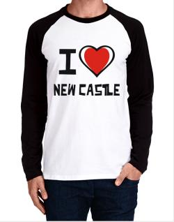 I Love New Castle Long-sleeve Raglan T-Shirt