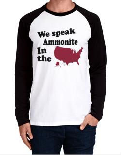 Ammonite Is Spoken In The Us - Map Long-sleeve Raglan T-Shirt