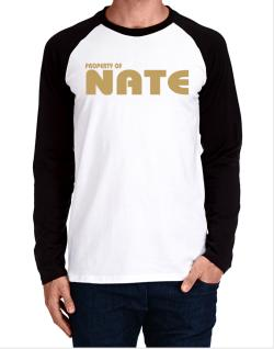 Property Of Nate Long-sleeve Raglan T-Shirt
