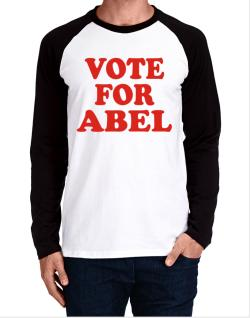 Vote For Abel Long-sleeve Raglan T-Shirt