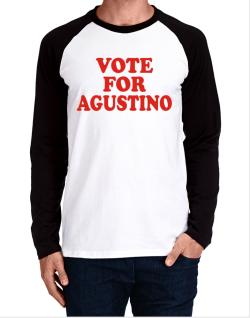 Vote For Agustino Long-sleeve Raglan T-Shirt