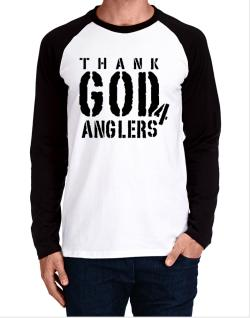 Thank God For Anglers Long-sleeve Raglan T-Shirt