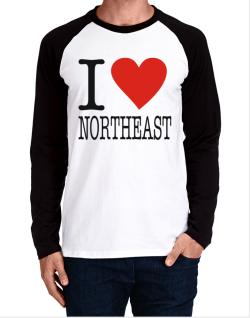I Love Northeast Long-sleeve Raglan T-Shirt