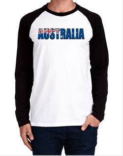 Australia Flag  Long-sleeve Raglan T-Shirt