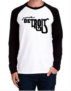 Detroit gun style Long-sleeve Raglan T-Shirt