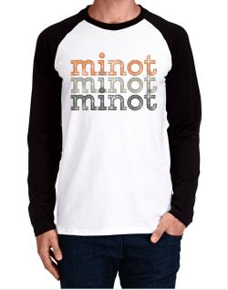 Minot repeat retro Long-sleeve Raglan T-Shirt