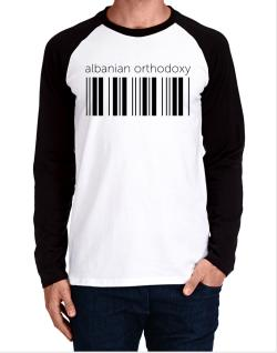 Albanian Orthodoxy barcode Long-sleeve Raglan T-Shirt