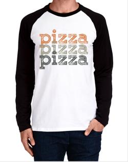 Pizza repeat retro Long-sleeve Raglan T-Shirt