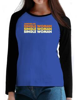 Ardelis Single Woman T-Shirt - Raglan Long Sleeve-Womens