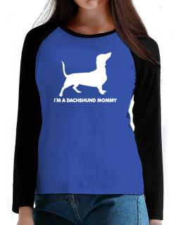 Dachshund mommy T-Shirt - Raglan Long Sleeve-Womens
