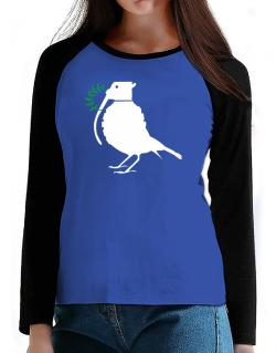 Dove grenade  T-Shirt - Raglan Long Sleeve-Womens