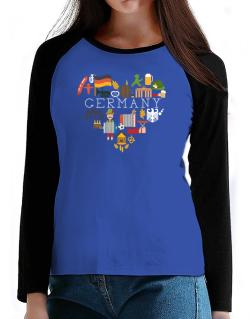 I love Germany T-Shirt - Raglan Long Sleeve-Womens