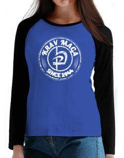 Krav maga since 1944 T-Shirt - Raglan Long Sleeve-Womens
