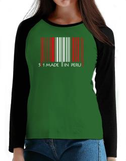 Made in Peru cool design  T-Shirt - Raglan Long Sleeve-Womens