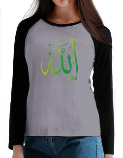 Allah arabic character T-Shirt - Raglan Long Sleeve-Womens