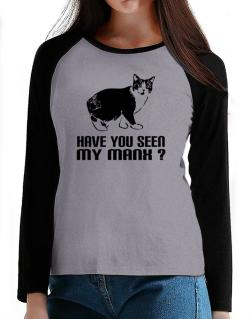 Have you seen my Manx? T-Shirt - Raglan Long Sleeve-Womens