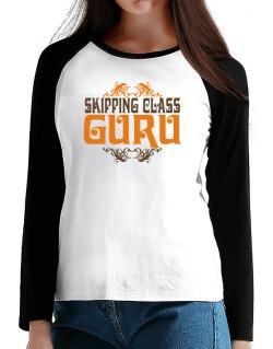 Skipping Class Guru T-Shirt - Raglan Long Sleeve-Womens