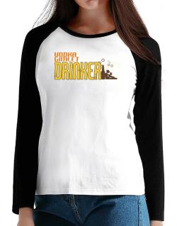 Vodka Gimlet Drinker T-Shirt - Raglan Long Sleeve-Womens