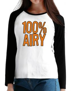 100% Airy T-Shirt - Raglan Long Sleeve-Womens