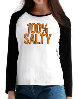 100% Salty T-Shirt - Raglan Long Sleeve-Womens