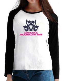 Agricultural Microbiologist Zone - Gas Mask T-Shirt - Raglan Long Sleeve-Womens