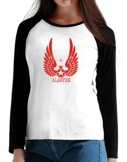 Alaster - Wings T-Shirt - Raglan Long Sleeve-Womens
