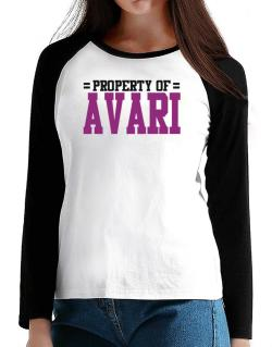 Property Of Avari T-Shirt - Raglan Long Sleeve-Womens
