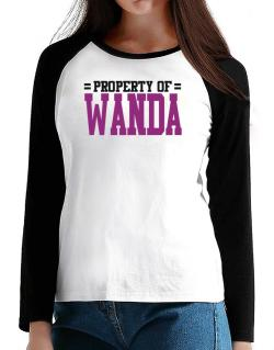 Property Of Wanda T-Shirt - Raglan Long Sleeve-Womens
